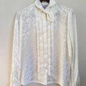 Vintage Laura and Jayne Fancy Pleated Blouse Size8
